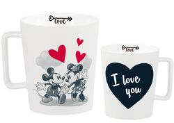 hrnček MICKEY MOUSE - LOVE s kriedou - 320 ml