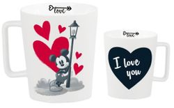 hrnček MICKEY MOUSE - MICKEY IN LOVE s kriedou - 320 ml