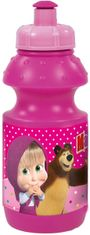 plastová fľaša Masha and the Bear -350ml